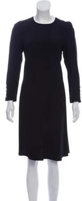 Sonia Rykiel Crepe Midi Dress Black Crepe Midi Dress