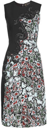 Versace Embroidered Lace Dress with Silk