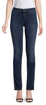 Hudson Nico Mid-Rise Cigarette Grommet Jeans