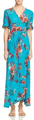 Band of Gypsies Vintage Floral Wrap Maxi Dress $78 thestylecure.com