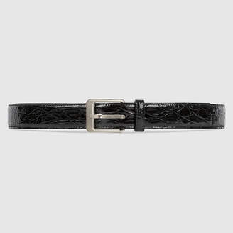 Gucci Python belt with square buckle