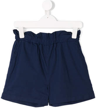 Woolrich Kids paper bag waist shorts