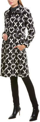 Twin-Set Twin Set Twinset Printed Wool & Cashmere-Blend Overcoat