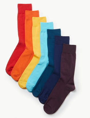 Fresh Feet M&S CollectionMarks and Spencer 7 Pack Cotton Rich Cool & Freshfeet Socks