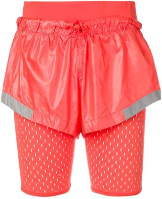 adidas by Stella McCartney layered performance shorts