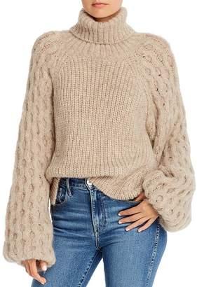 Eleven Paris Six Nina Alpaca-Blend Balloon-Sleeve Sweater