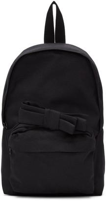 Comme des Garçons Girl Black Nylon Bow Backpack $275 thestylecure.com