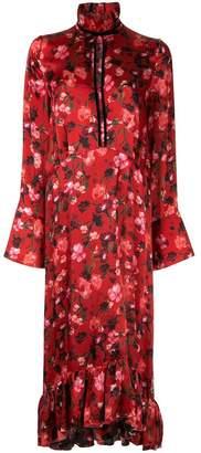 Mother of Pearl poppy print midi dress