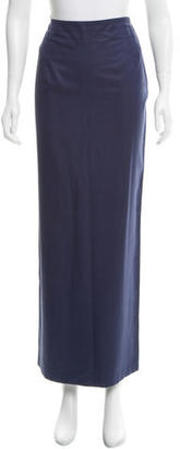 Yohji Yamamoto Silk Maxi Skirt $95 thestylecure.com