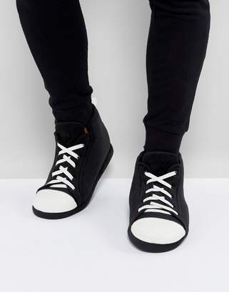 Asos Sneaker Slippers In Black and White