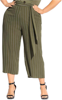 City Chic Trendy Plus Size Striped Flair Pants