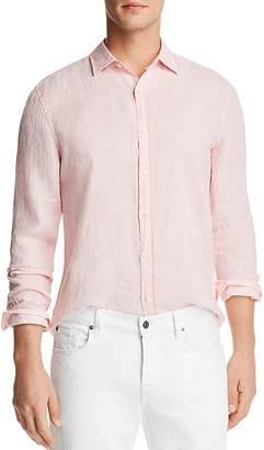 Bloomingdale's The Men's Store at Linen Striped Regular Fit Button-Down Shirt - 100% Exclusive