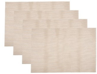 Fete Moderne Set of 4 Easy Care Wipe Clean Grid Placemat | Gold