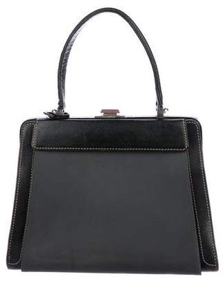 Delvaux Pebbled Leather Frame Bag