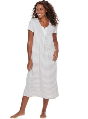 Croft & Barrow Women's Lace Trim Nightgown