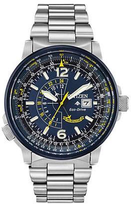 Citizen Synchronized Stainless Steel Bracelet Watch