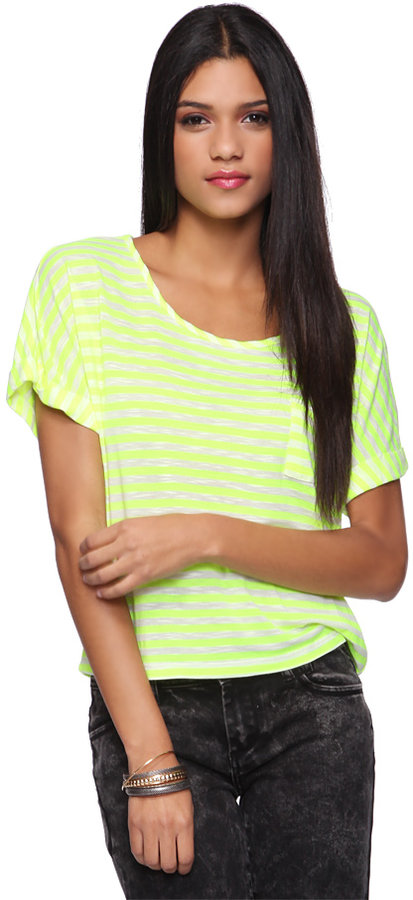 Forever 21 Bright Stripes Top