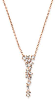 Bloomingdale's Diamond Scatter Necklace in 14K Rose Gold, 0.33 ct. t.w. - 100% Exclusive