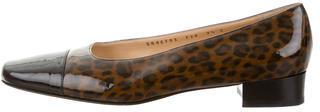 Salvatore FerragamoSalvatore Ferragamo Patent Leather Cap-Toe Flats