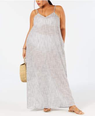 Raviya Plus Size Cotton Printed Maxi Dress Cover-Up Women Swimsuit