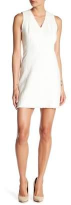 Rebecca Taylor V-Neck Sleeveless Textured Dress