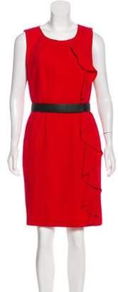 Calvin Klein Ruffle-Trimmed Sheath Dress