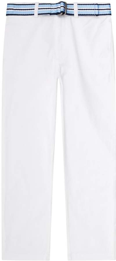 Belted Skinny-Fit Chinos