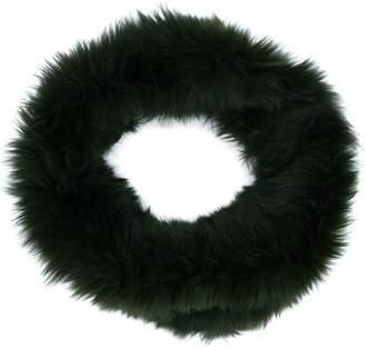 Plein Sud Jeans fox fur scarf