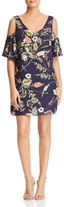Bobeau B Collection by Floral-Print Cold-Shoulder Dress - 100% Exclusive