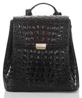 Brahmin Margo Croc Embossed Leather Backpack