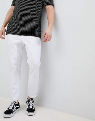 Asos Design DESIGN tapered chinos in white