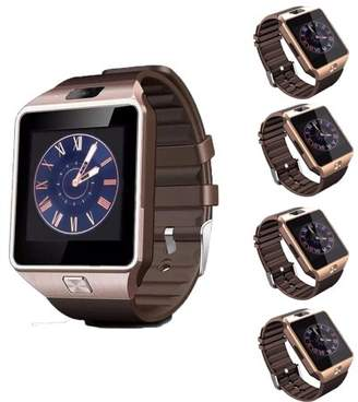 AmazingForLess 5 Pack DZ-09 Gold Smart Watch Wholesale Lot Touch Screen Bluetooth Smart Wrist Watch - Supports SIM + Memory Card