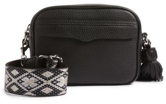 Rebecca Minkoff Leather Camera Bag With Guitar Strap - Black $295 thestylecure.com