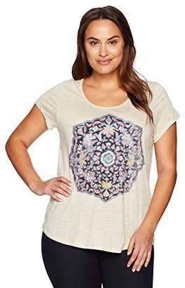 Lucky Brand Women's Plus Size Temple Mandala Tee