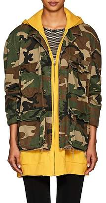 R 13 Women's Abu Camouflage Cotton Field Jacket - Yellow