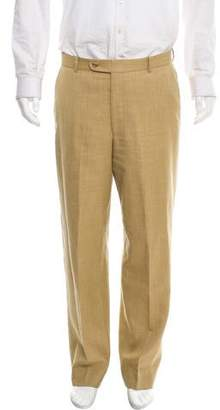 Burberry Silk-Blend Flat-Front Chinos