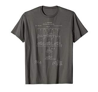Classic Vintage Patent Print 1873 Craft Beer Brewing T-Shirt