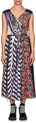 Marc Jacobs Women's Mixed-Print Belted Midi-Dress