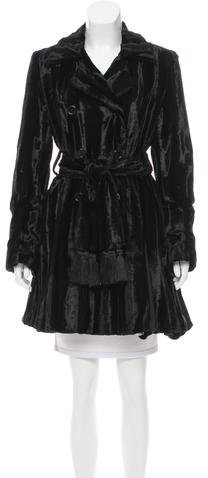 Alice + Olivia Alice + Olivia Faux Fur Double-Breasted Coat