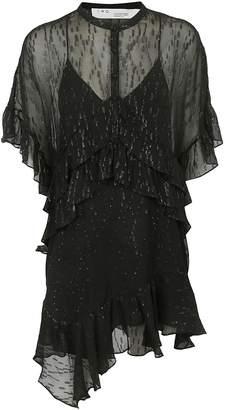 IRO Asymmetric Ruffled Dress