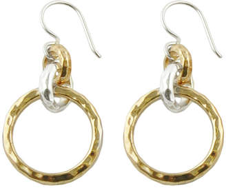 Artsmith BY BARSE Art Smith by BARSE Two-Tone Hammered Drop Earrings