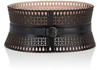 Alaia Women's Petite Fleur Leather Wide Belt