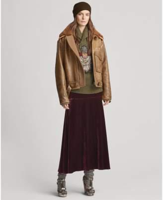 Ralph Lauren Zayna Velvet Skirt