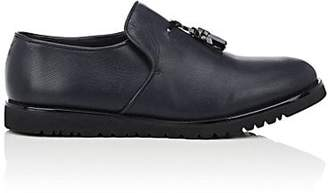 Emporio Armani Men's Tassel-Detailed Perforated Leather Loafers - Navy Size 11 M