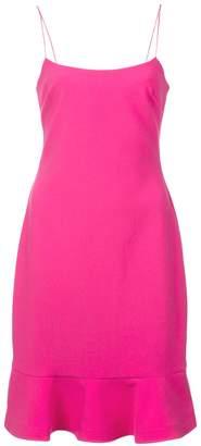 LIKELY flounce hem square neck mini dress