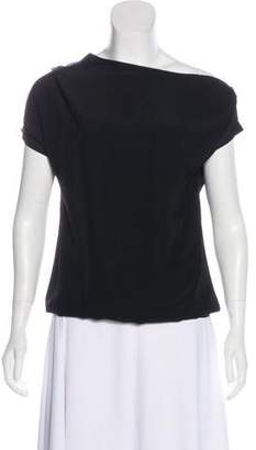 Bottega Veneta Zip-Accented Short Sleeve Top