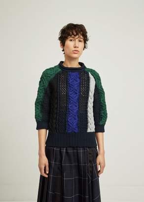 Sacai Pasta Knit Pullover Navy X Multi