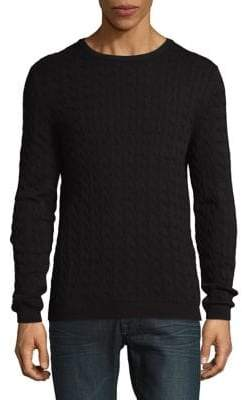 ONLY & SONS Crewneck Cable Cotton Sweater
