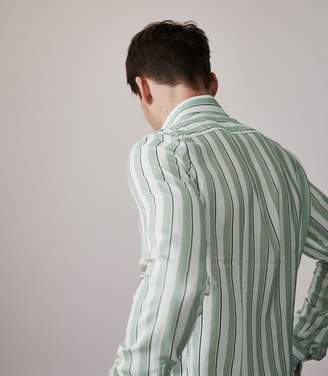 Reiss ORDER BY MIDNIGHT DEC 15TH FOR CHRISTMAS DELIVERY FINNIE STRIPED SHIRT Mint