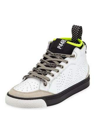 P448 Perforated Platform High-Top Sneakers